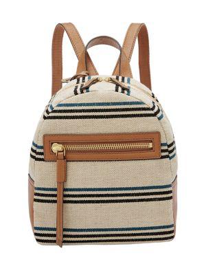 d80b8e6197e3e2 Product image. QUICK VIEW. Fossil. Mini Megan Striped Backpack