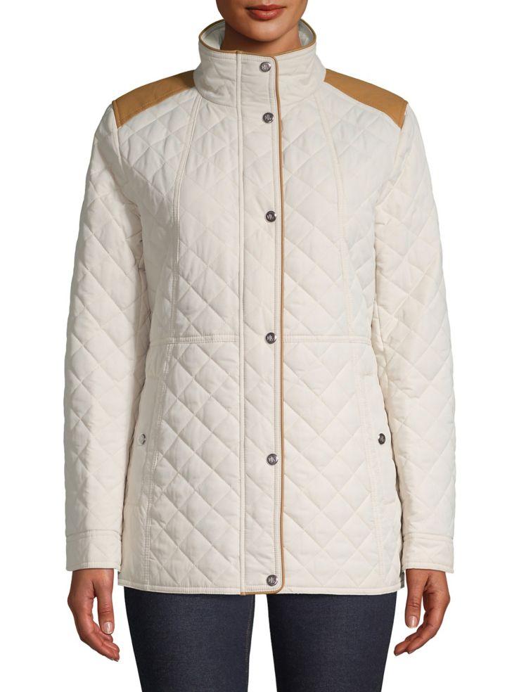52390002f44e Lauren Ralph Lauren - Trimmed Quilted Jacket - thebay.com