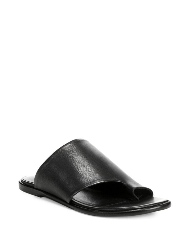 93d789a27be3 Vince - Edris Leather Slip-On Sandals - thebay.com