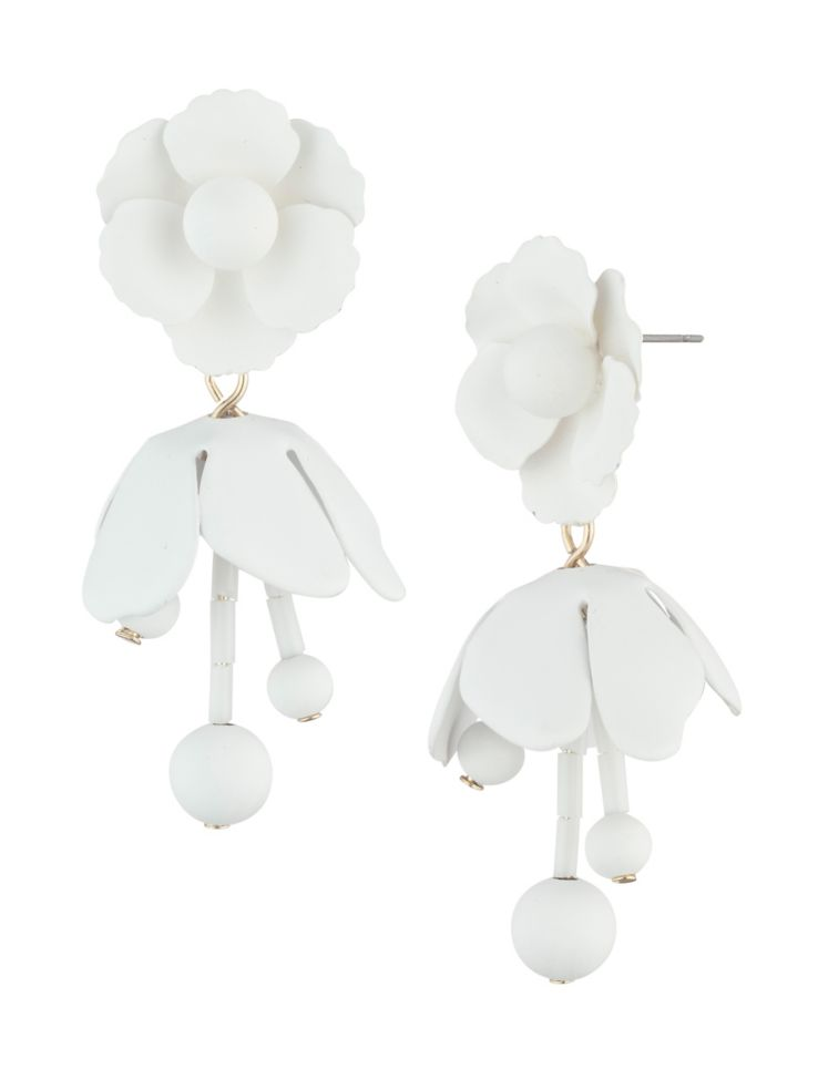 d3aa0f11a DKNY - Willow Floral Crystal Drop Earrings - thebay.com