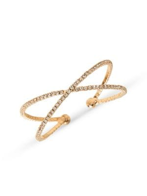 76fe7712239 Goldtone & Crystal Double-Row Cuff Bracelet