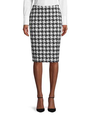 3689c468e Riami Houndstooth Pencil Skirt Black/White. Product image. QUICK VIEW. HUGO