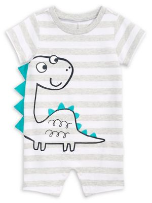 f795ba787ed9 Product image. QUICK VIEW. First Impressions. Baby Boy s Striped Dinosaur  Cotton Shortalls.  14.99 Now  10.49