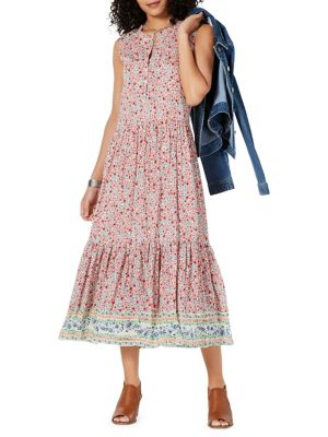 3062ccc5dc5 Petite Floral Tiered Skirt Maxi Dress