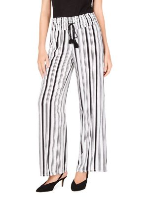 565049559c2 QUICK VIEW. I.N.C International Concepts. Petite Crinkle Wide-Leg Pants