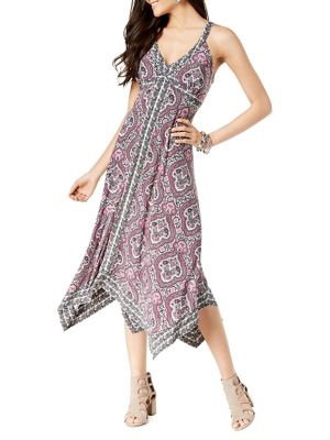 852fa265b1a Product image. QUICK VIEW. I.N.C International Concepts. Mixed-Print  Handkerchief Maxi Dress