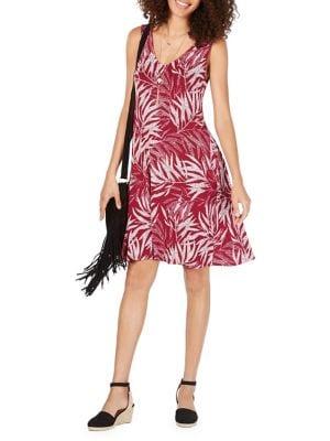 a55c65a856703 QUICK VIEW. Style & Co. Petite Leaf-Print Crisscross Sundress