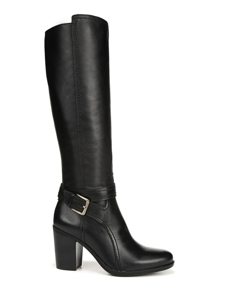 ee4bcb1bd26 Naturalizer - N5 Contour Kelsey Wide Calf Leather Boots - thebay.com