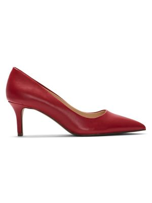 5afb492f8f Tudor Pointed Leather Pumps RED. QUICK VIEW. Product image