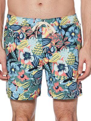 6c694ee0a8 Tropical & Floral-Print Swim Shorts