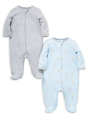 01e9508d8 QUICK VIEW. Little Me. Baby Boy's 2-Pack Cotton Footies