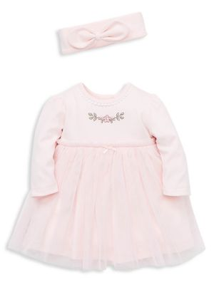 ed3e9ee3f7c Baby Girl's 3-Piece Cotton Blend Dress, Bloomers & Headband Set PINK. QUICK  VIEW. Product image