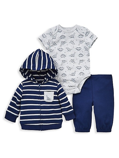 Bodysuit and Pant Hudson Baby 3 Piece Hoodie
