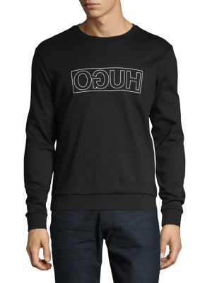 36dcf01c0 QUICK VIEW. HUGO BOSS. Mirrored Logo Pullover Sweatshirt