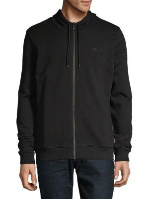 c18656dd20a QUICK VIEW. HUGO. Logo Cotton Hoodie.  168.00 · Embroidered Logo Cotton  Sweatshirt BLACK
