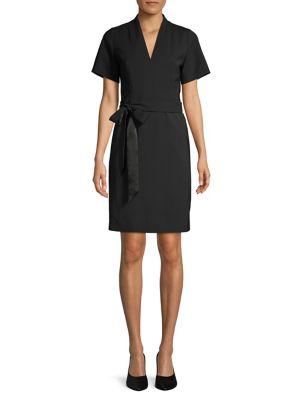fc4f10d6740 QUICK VIEW. HUGO. Wool Blend Belted Dress