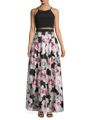 f842f563abd Floral-Print Maxi Dress Black White Pink. QUICK VIEW. Product image. QUICK  VIEW. Betsy   Adam