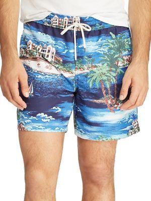 aa4fb206069b1 Product image. QUICK VIEW. Polo Ralph Lauren. Havana Ocean Print Swim Shorts
