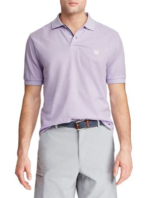 ceddb226 Short-Sleeve Cotton Polo Shirt PURPLE. QUICK VIEW. Product image