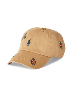 64c789d42 Product image. QUICK VIEW. Polo Ralph Lauren. Embroidered Cotton Chino  Baseball Cap