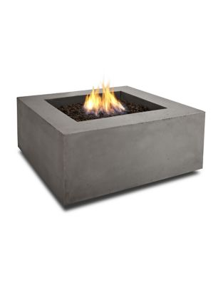 Baltic Outdoor Square Propane Fire Table by Real Flame