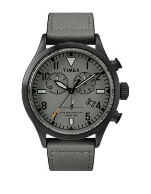 8397b20c6 Product image. QUICK VIEW. Timex Boutique. Waterbury Chronograph Leather  Strap Watch