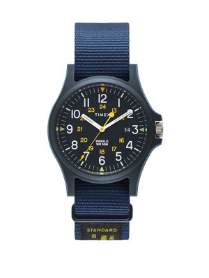 774ce69bc QUICK VIEW. Timex. Acadia Military Blue Resin Grosgrain Strap Watch