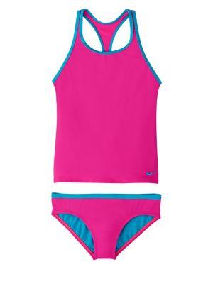 eab9c4325ddd5 QUICK VIEW. Nike Swim. Girl's Racerback Tankini Top