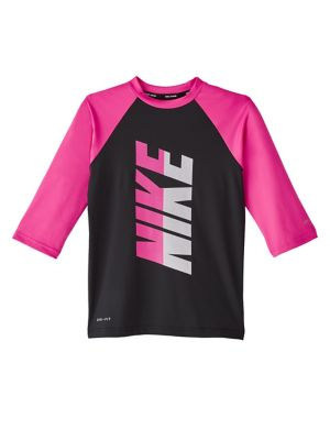 ee29fe01a2 QUICK VIEW. Nike Swim. Girl's Rift Three-Quarter Sleeve Hydroguard