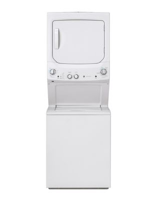 GUD27ESMMWW Spacemaker Washer and Electric Dryer - White photo