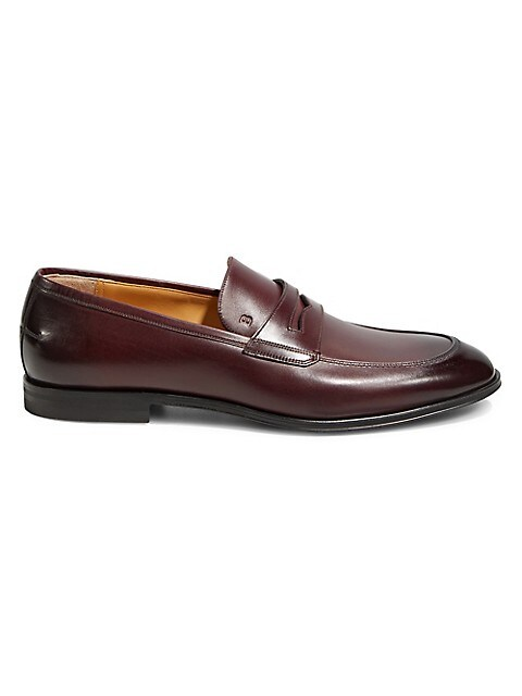 Bally Shiraz Leather Penny Loafers