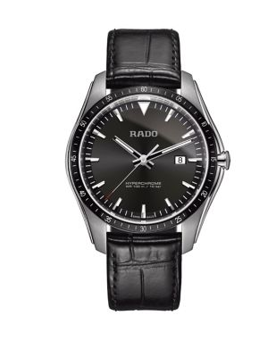 e3aec9ee42c Product image. QUICK VIEW. Rado. Hyperchrome Three-Hand Stainless Steel    Leather Watch
