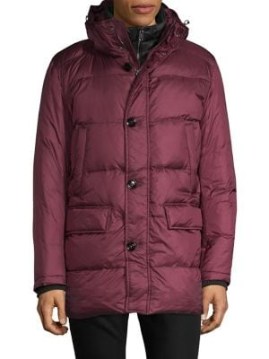cecb91462118fd Classic Hooded Down Jacket DARK RED. QUICK VIEW. Product image