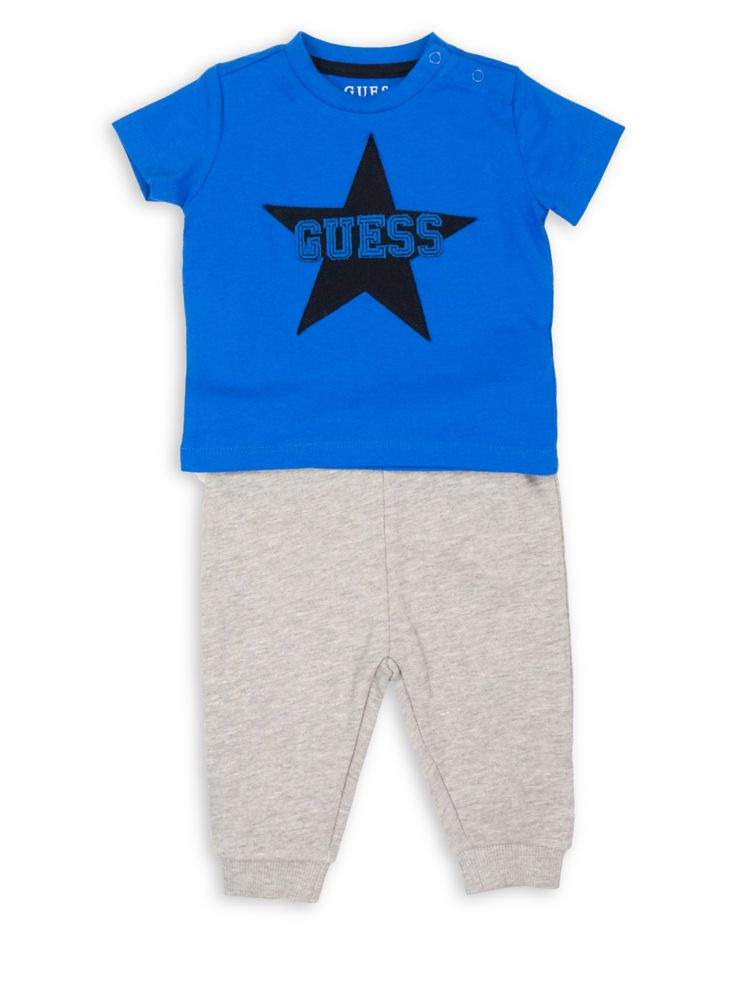 f168ec2a9b GUESS - Baby Boy's Logo Tee & Pants Set - thebay.com
