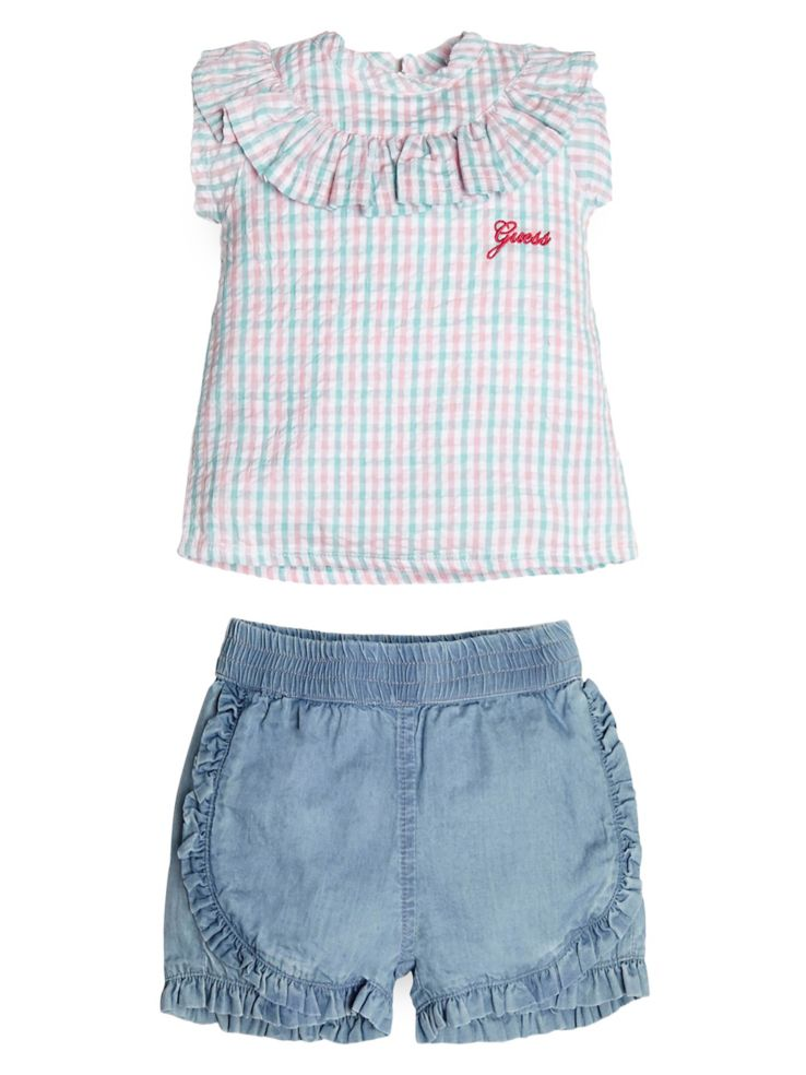 6a3e26dd7 GUESS - Baby Girl's 2-Piece Cotton Top & Chambray Shorts Set ...