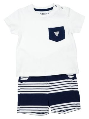 3db41d952a3e Product image. QUICK VIEW. GUESS. Baby Boy s 2-Piece Cotton Pocket Tee   Shorts  Set