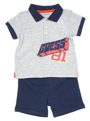 66d761d74 Baby Boy's 2-Piece Printed Cotton Tee & French Terry Shorts Set L H GREY.  QUICK VIEW. Product image
