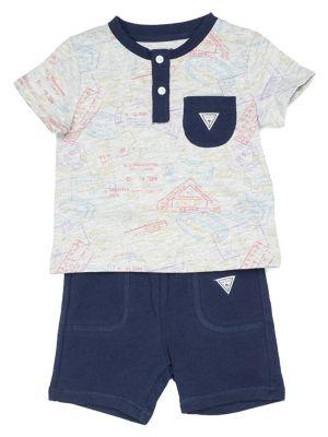 3b3c772534b19 QUICK VIEW. GUESS. Baby Boy's 2-Piece Cotton Henley & Shorts Set
