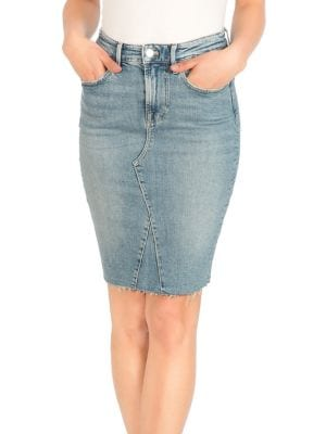 999088f10c Product image. QUICK VIEW. GUESS. Frayed Denim Skirt