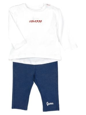 6277edff71842 Product image. QUICK VIEW. GUESS. Baby Girl's 2-Piece Tee & Pants Set