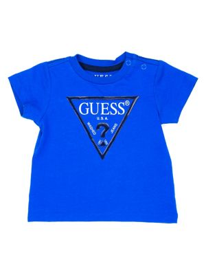 e0894142 Baby Boy's Logo Cotton Tee COSMIC BLUE. QUICK VIEW. Product image