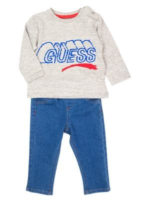 68f633be7 Product image. QUICK VIEW. GUESS. Baby Boy's 2-Piece Logo Cotton Blend Tee  & Jeans Set