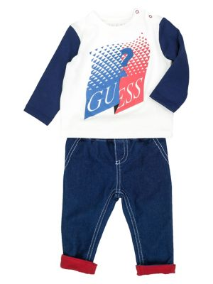 414e2c738 QUICK VIEW. GUESS. Baby Boy's 2-Piece Graphic Long-Sleeve Tee & Pants Set