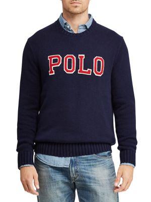 bee9de0b61c QUICK VIEW. Polo Ralph Lauren. Crewneck Patch Cotton Sweater