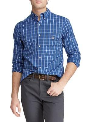 b8ee5e78269 QUICK VIEW. Chaps. Plaid Long-Sleeve Button Down Shirt