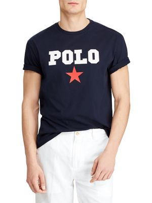 4a7e9782 Logo-Print Cotton Tee NAVY. QUICK VIEW. Product image. QUICK VIEW. Polo  Ralph Lauren