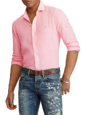 05c7fff88 QUICK VIEW. Polo Ralph Lauren. Classic-Fit Linen Button-Down Shirt