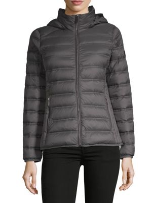 eee20d9d9db7 Product image. QUICK VIEW. Michael Michael Kors. Short Packable Jacket.   139.99. everyday value · Faux Fur-Trimmed Hooded Jacket OLIVE