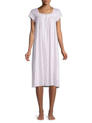 QUICK VIEW. Eileen West. Cap-Sleeve Lace-Trimmed Cotton Nightgown.  72.00  Now  50.40 f5da7e46e