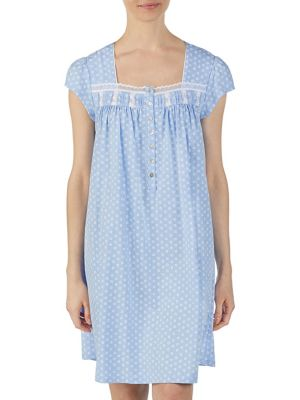 7a93ecf707 Product image. QUICK VIEW. Eileen West. Printed Cotton Nightgown